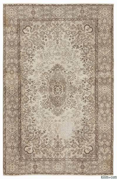"""Over-dyed Turkish Vintage Rug - 5'7"""" x 8'9"""" (67 in. x 105 in.)"""