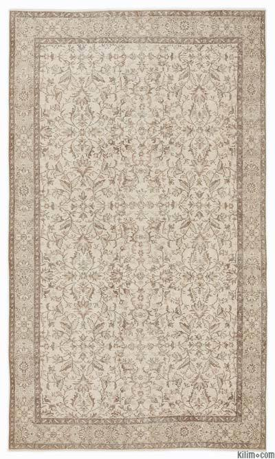 """Over-dyed Turkish Vintage Rug - 5'5"""" x 9'4"""" (65 in. x 112 in.)"""