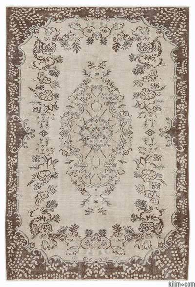 "Over-dyed Turkish Vintage Rug - 5'10"" x 8'7"" (70 in. x 103 in.)"