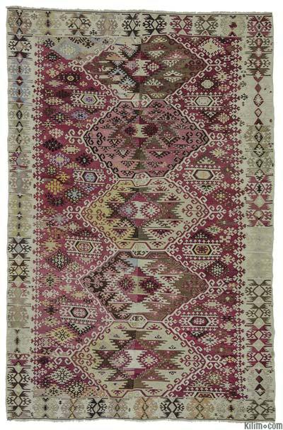 "Antique Reyhanli Kilim Rug - 6' 3"" x 9' 6"" (75 in. x 114 in.)"