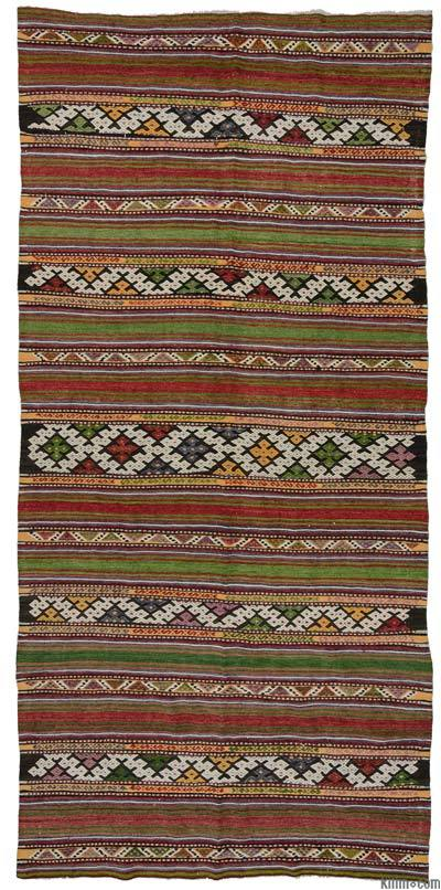 """Vintage Balikesir Kilim Rug - 5'3"""" x 11' (63 in. x 132 in.)"""