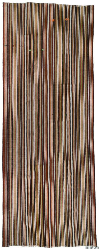 "Vintage Turkish Flatweave Rug - 5'5"" x 13'11"" (65 in. x 167 in.)"