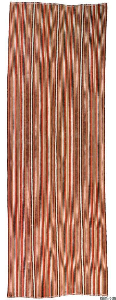 """Vintage Turkish Flatweave Rug - 4'10"""" x 14'2"""" (58 in. x 170 in.)"""