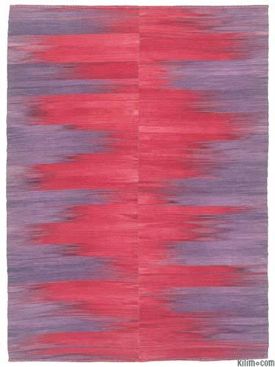 Mor, Kırmızı Yeni Anadolu Kilimi - 206 cm x 281 cm