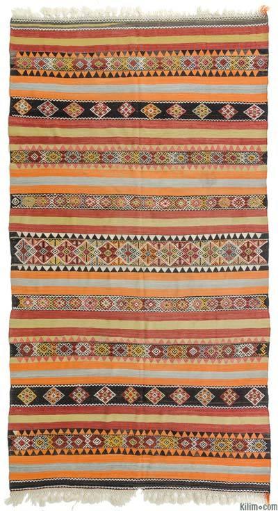 """Multicolor Vintage Sivas Kilim Rug - 6'  x 10' 11"""" (72 in. x 131 in.)"""