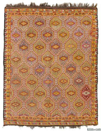 "Turkish Vintage 'Zili' Rug - 4'8"" x 5'11"" (56 in. x 71 in.)"