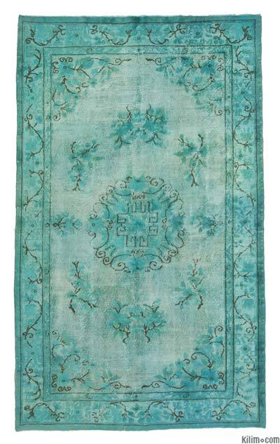 """Hand Carved Over-Dyed Rug - 5' 8"""" x 9' 4"""" (68 in. x 112 in.)"""