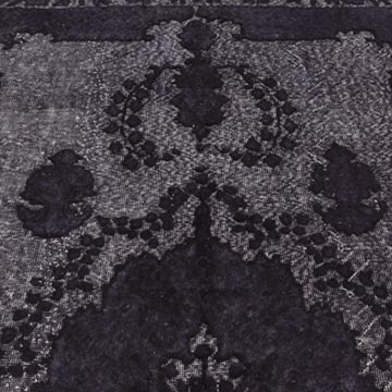 """Purple Hand Carved Over-Dyed Rug - 6' 4"""" x 10' 5"""" (76 in. x 125 in.) - K0010649"""