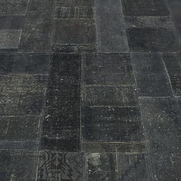 """Grey Patchwork Hand-Knotted Turkish Rug - 5' 8"""" x 7' 11"""" (68 in. x 95 in.) - K0010659"""