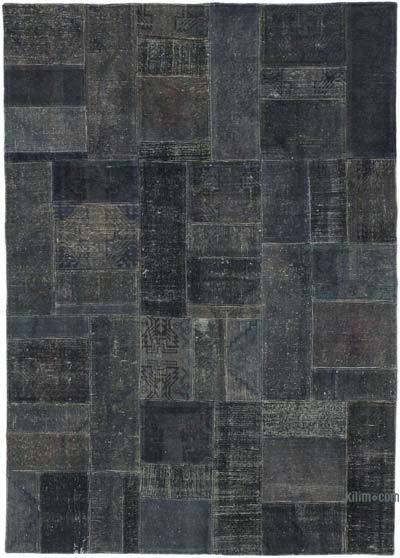 """Over-dyed Turkish Patchwork Rug - 5' 8"""" x 7' 11"""" (68 in. x 95 in.)"""