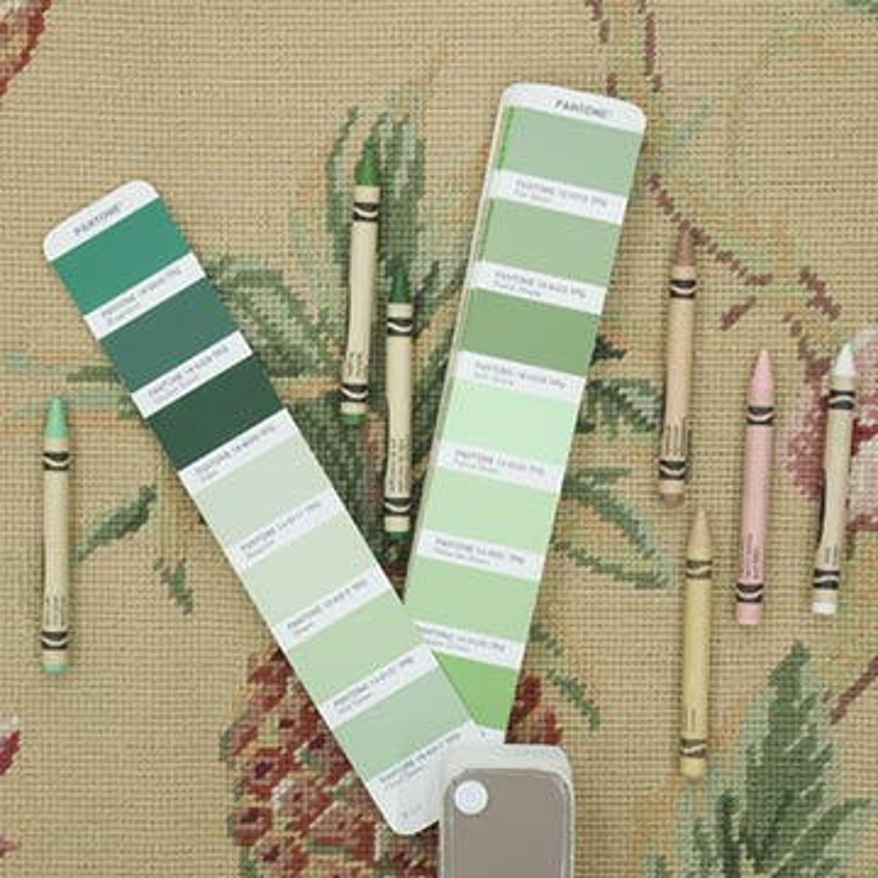 "Handmade Needlepoint Rug - 5' 11"" x 8' 11"" (71 in. x 107 in.) - K0010686"