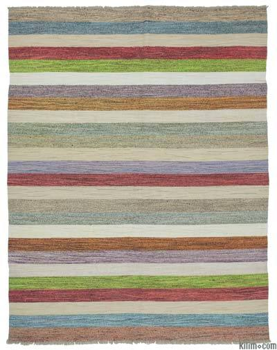 New Contemporary Handwoven Kilim Rug - 8'  x 10'  (96 in. x 120 in.) - Vintage Yarn
