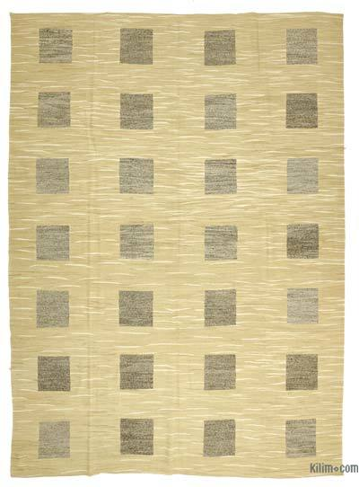 "New Contemporary Handwoven Kilim Rug - 9'11"" x 13'3"" (119 in. x 159 in.) - Vintage Yarn"