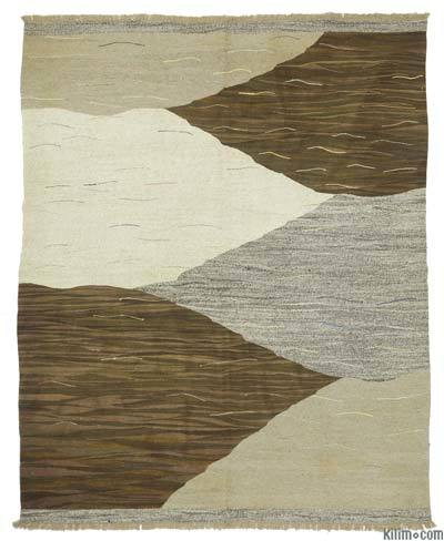"New Contemporary Handwoven Kilim Rug - 8' x 9'10"" (96 in. x 118 in.) - Vintage Yarn"