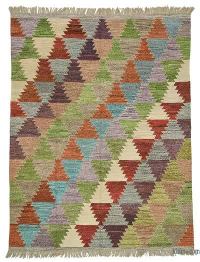 "Old Yarn Kilim Rug - 7' 11"" x 10' 4"" (95 in. x 124 in.)"