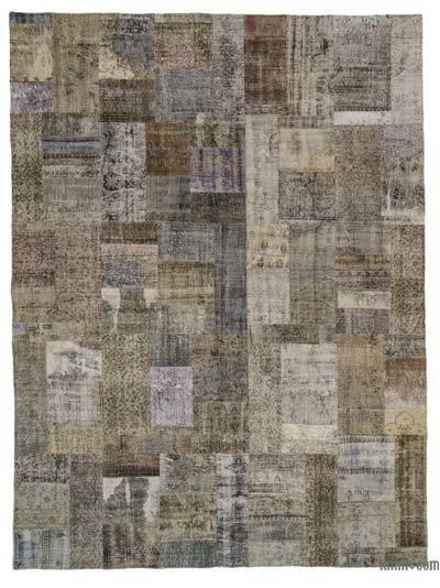 "Over-dyed Turkish Patchwork Rug - 9' x 11'10"" (108 in. x 142 in.)"