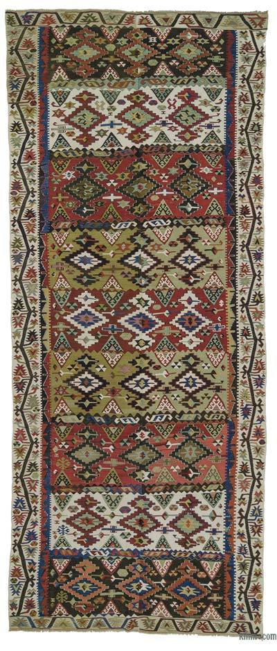 "Antique Malatya Kilim Rug - 5' 10"" x 14'  (70 in. x 168 in.)"