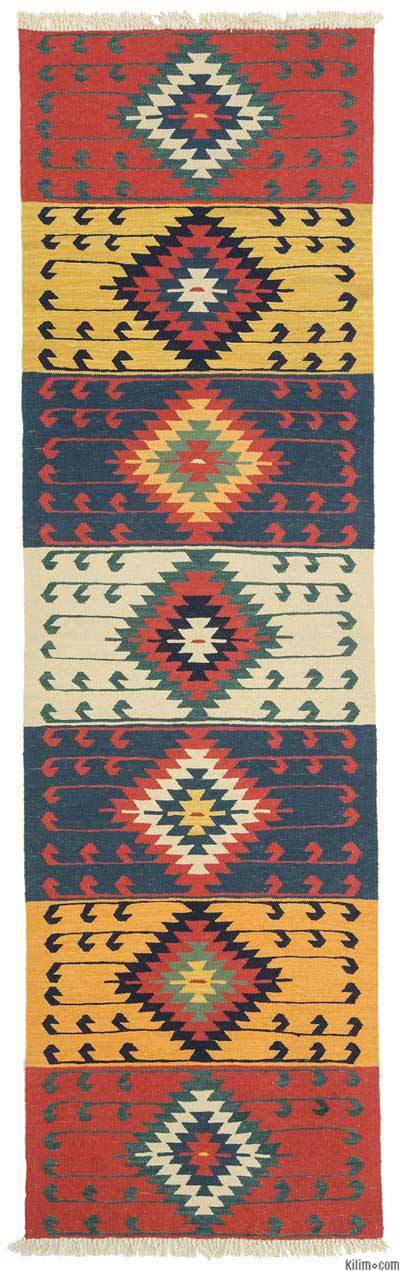 "New Turkish Kilim Runner  - 2' 11"" x 10'  (35 in. x 120 in.)"