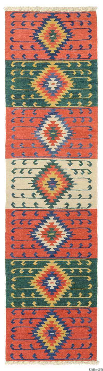 "New Turkish Kilim Runner Rug - 2' 9"" x 10' 8"" (33 in. x 128 in.)"