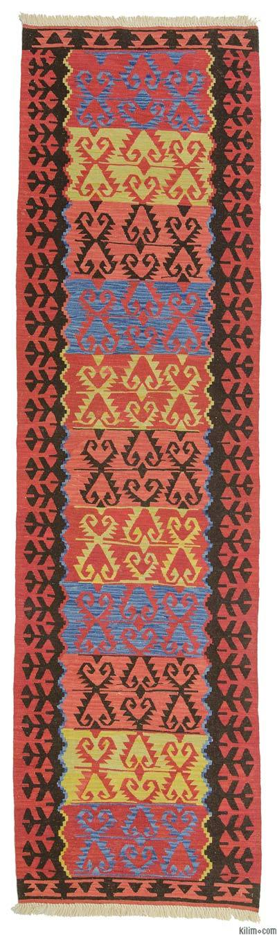 "New Turkish Kilim Runner Rug - 3' 1"" x 11'  (37 in. x 132 in.)"