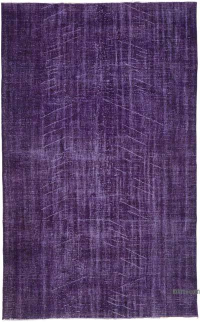 """Over-dyed Turkish Vintage Rug - 6'4"""" x 10'2"""" (76 in. x 122 in.)"""