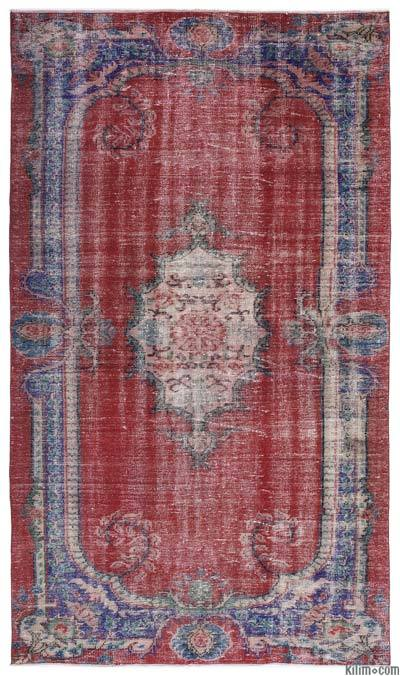 "Turkish Vintage Area Rug - 6' x 10'3"" (72 in. x 123 in.)"