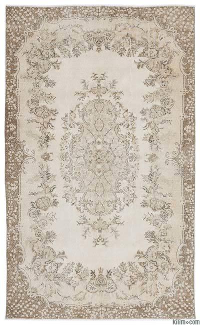 Boyalı El Dokuma Vintage Halı - 180 cm x 301 cm
