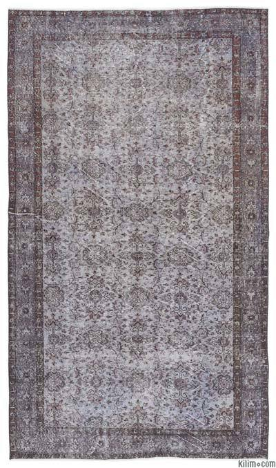 """Over-dyed Turkish Vintage Rug - 5'8"""" x 10' (68 in. x 120 in.)"""