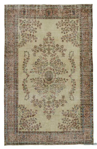 "Turkish Vintage Area Rug - 6' 11"" x 10' 8"" (83 in. x 128 in.)"