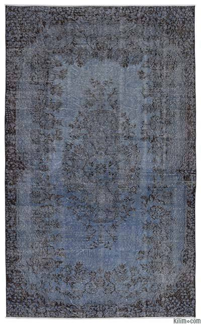 """Over-dyed Turkish Vintage Rug - 5'8"""" x 9'4"""" (68 in. x 112 in.)"""