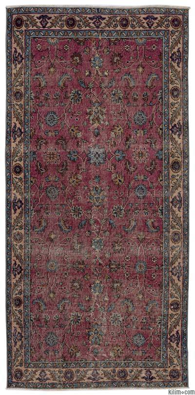 """Turkish Vintage Area Rug - 3'7"""" x 7'4"""" (43 in. x 88 in.)"""