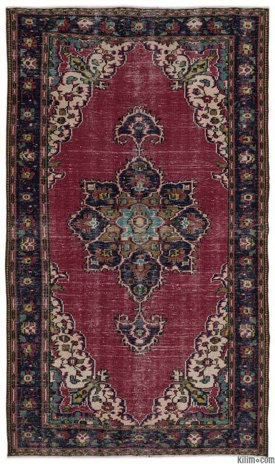 "Turkish Vintage Area Rug - 5'2"" x 8'11"" (62 in. x 107 in.)"