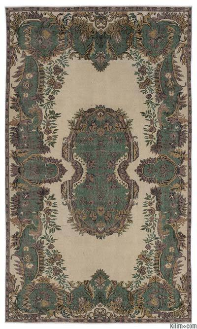 """Turkish Vintage Area Rug - 5'6"""" x 9'5"""" (66 in. x 113 in.)"""