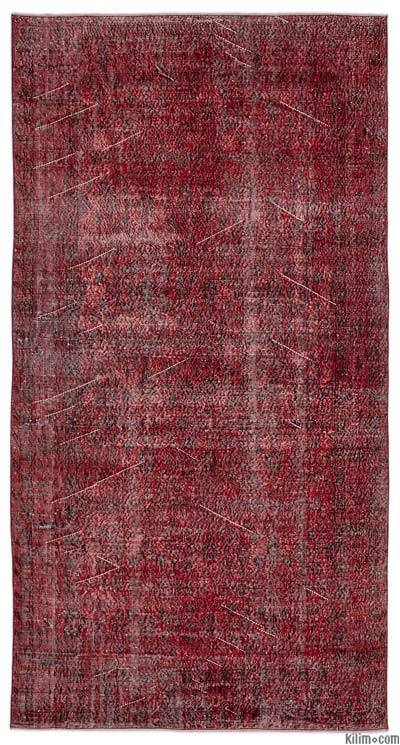 Alfombra Turca Vintage Sobre-teñida - 167 cm x 308 cm