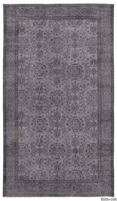 """Over-dyed Turkish Vintage Rug - 5'1"""" x 9' (61 in. x 108 in.)"""