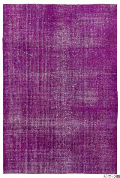 """Over-dyed Turkish Vintage Rug - 6'2"""" x 9'1"""" (74 in. x 109 in.)"""