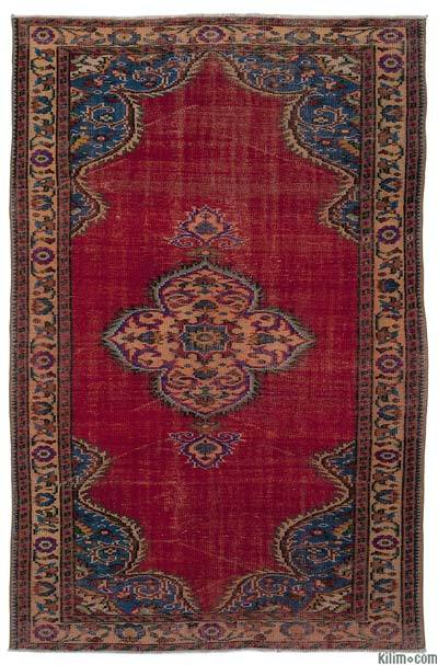 "Turkish Vintage Area Rug - 5'3"" x 8' (63 in. x 96 in.)"