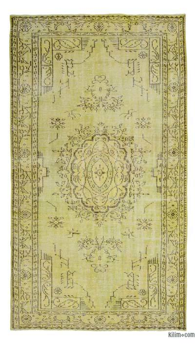 "Over-dyed Turkish Vintage Rug - 5' 1"" x 9' 5"" (61 in. x 113 in.)"