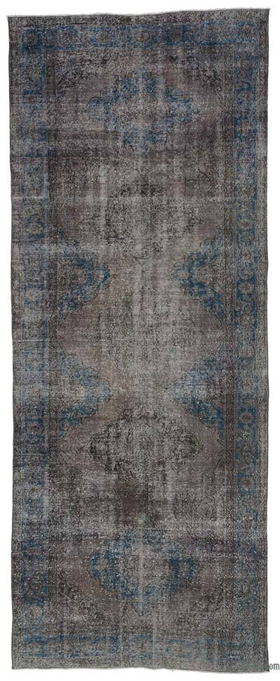 "Over-dyed Turkish Vintage Rug - 4'11"" x 12'7"" (59 in. x 151 in.)"