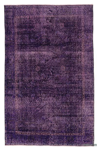 """Over-dyed Turkish Vintage Rug - 4'6"""" x 7'1"""" (54 in. x 85 in.)"""