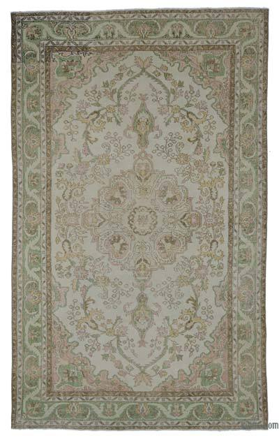 """Turkish Vintage Area Rug - 6' 1"""" x 9' 9"""" (73 in. x 117 in.)"""