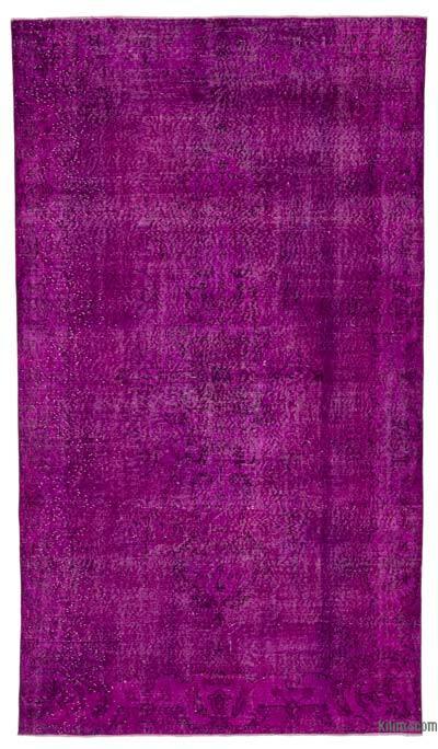 Boyalı El Dokuma Vintage Halı - 159 cm x 283 cm