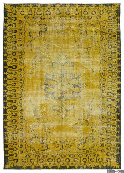 "Over-dyed Turkish Vintage Rug - 6'4"" x 8'11"" (76 in. x 107 in.)"