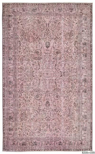 Boyalı El Dokuma Vintage Halı - 165 cm x 272 cm