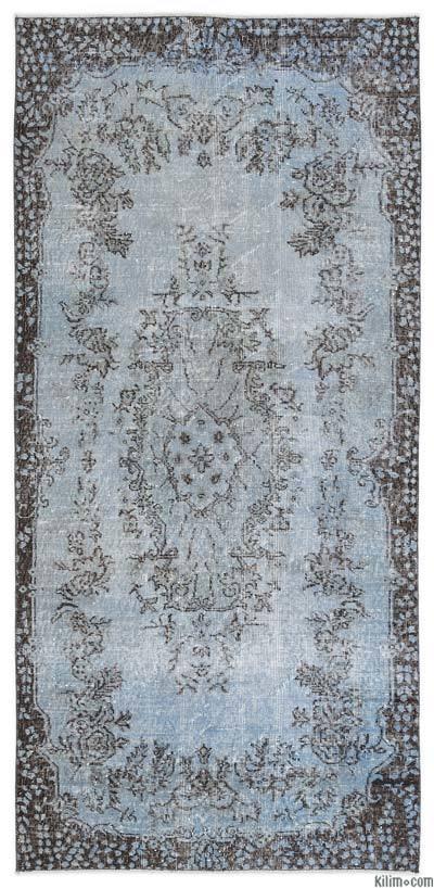 Boyalı El Dokuma Vintage Halı - 107 cm x 230 cm