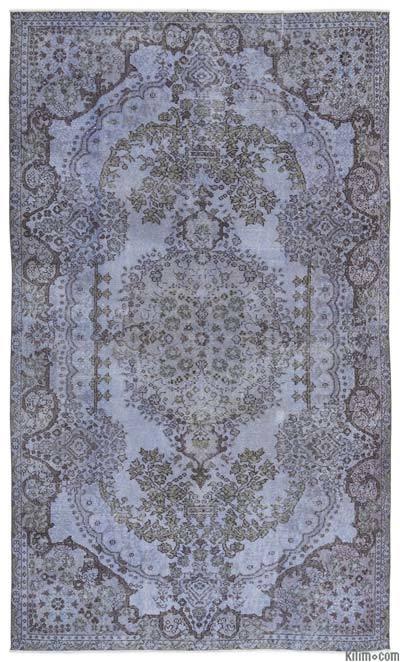 Alfombra Turca Vintage Sobre-teñida - 170 cm x 287 cm