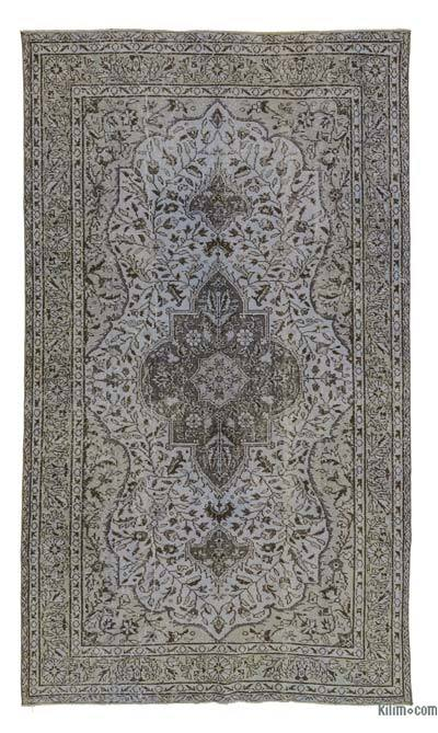 "Over-dyed Turkish Vintage Rug - 5' 4"" x 9' 4"" (64 in. x 112 in.)"
