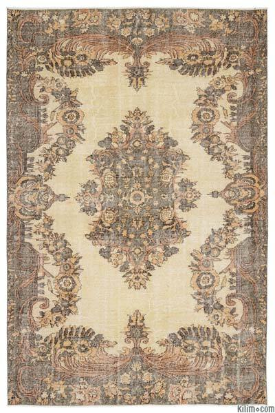 "Turkish Vintage Area Rug - 6'3"" x 9'7"" (75 in. x 115 in.)"