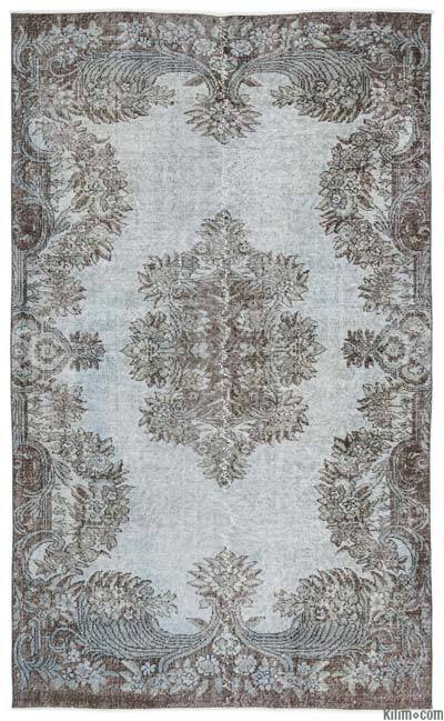 """Over-dyed Turkish Vintage Rug - 4'8"""" x 8' (56 in. x 96 in.)"""
