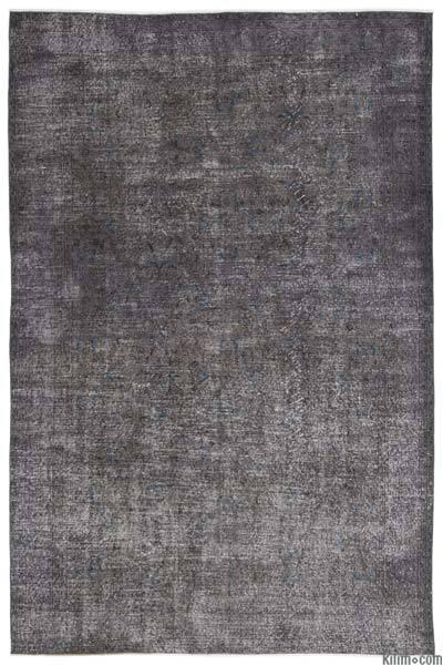 Boyalı El Dokuma Vintage Halı - 207 cm x 317 cm